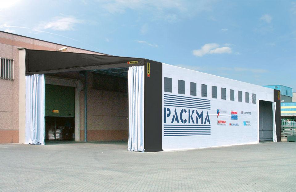 Warehouse / storage building / modular - Tettoie in pvc - KOPRON SPA