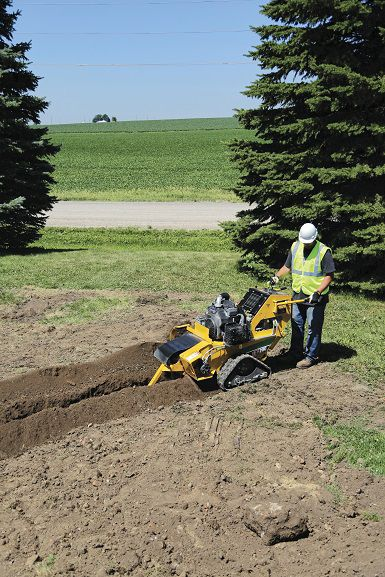 Chain trencher / tracked / walk-behind - RTX200 - Vermeer