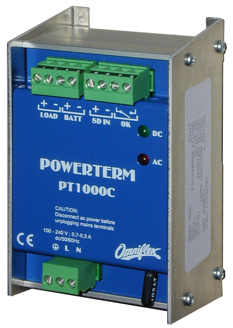 Lead Acid Battery Charger Din Rail Mounted Automatic C2175a Pt1000c