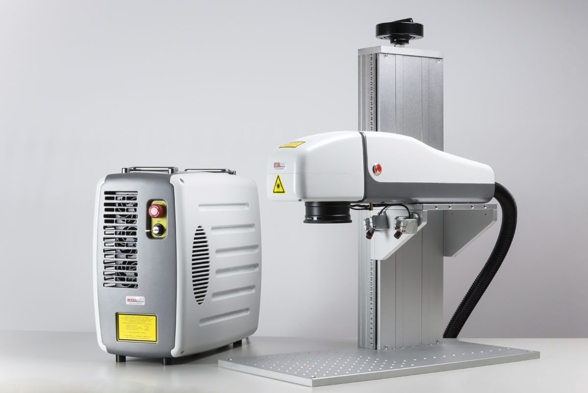 Pulsed fiber laser marking machine / benchtop / compact / for ...
