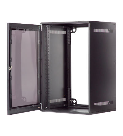 Network cabinet / wall-mount / 19 rack / metal - WallNet series ...