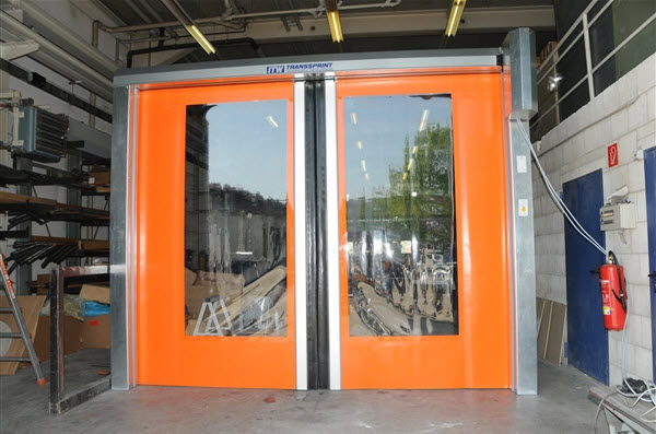 horizontal roll-up door / industrial / for the food industry / high-speed - Transsprint-S & Horizontal roll-up door / industrial / for the food industry / high ...