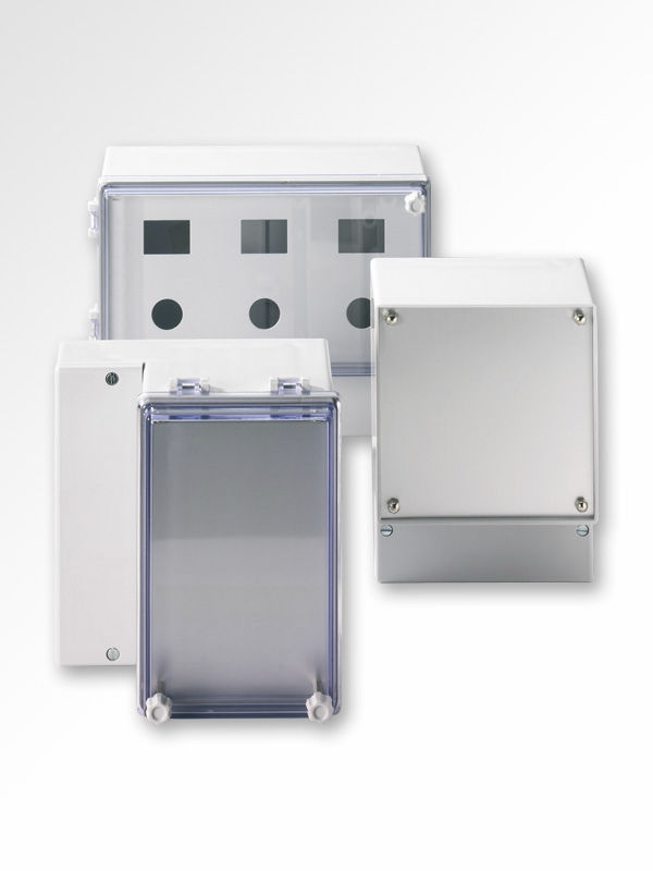 Wall-mount enclosure / modular / plastic / with hinged cover - IP54