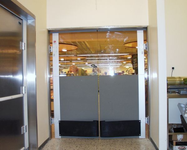 swing door / polycarbonate / for the food industry / industrial - ML0052B & Swing door / polycarbonate / for the food industry / industrial ...