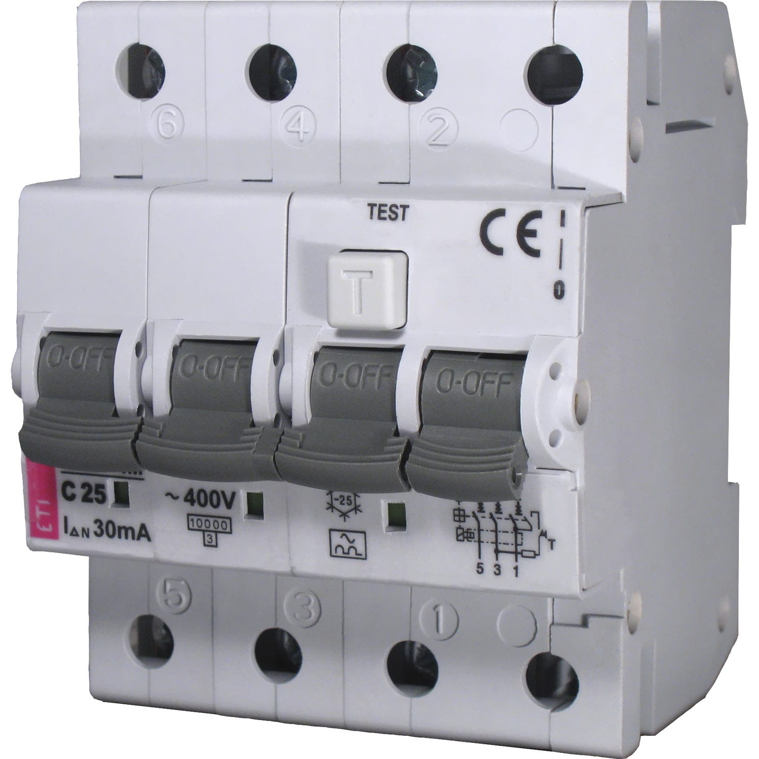 Residual current circuit breaker with overcurrent protection / 2