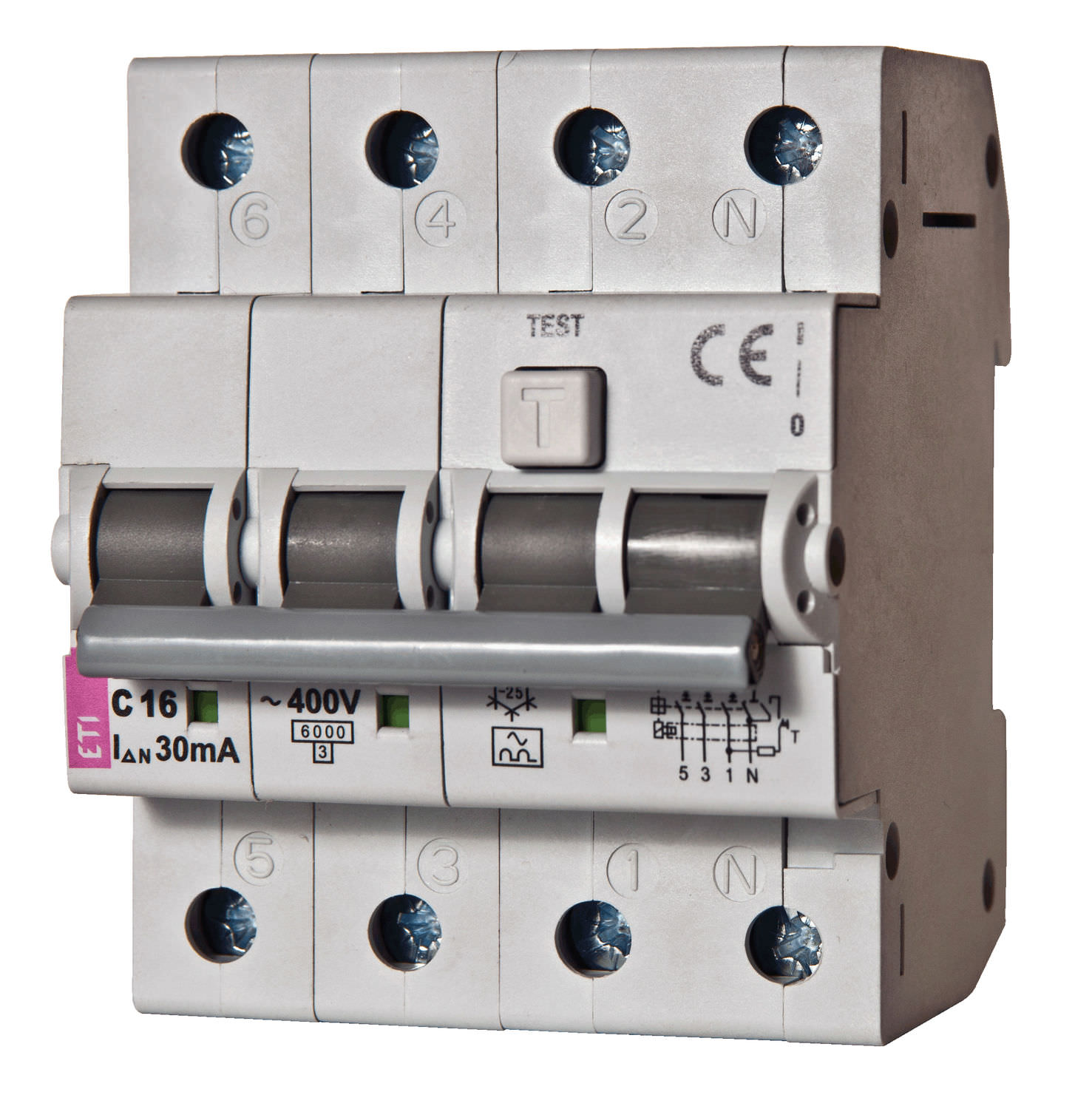 Residual Current Circuit Breaker With Overcurrent Protection Ac 2 Pole Modular 002174511
