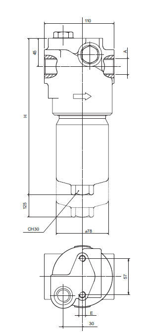 Liquid Filter Hydraulic Basket In Line