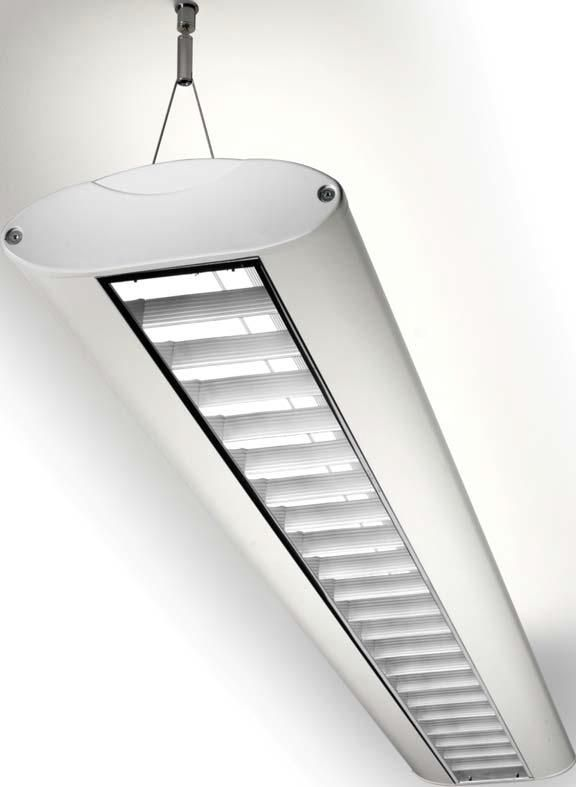 Ceiling-mounted lighting / fluorescent tube / office / suspended ...