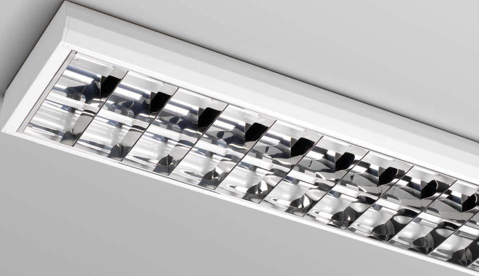 Ceiling-mounted lighting / fluorescent tube / for shops / for ...