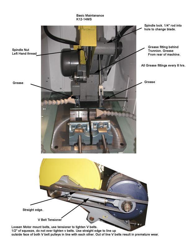 cut off saw for non ferrous metals wet abrasive semi automatic