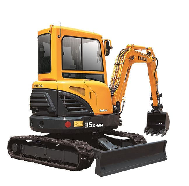 Compact excavator mini crawler for construction r35z 9a compact excavator mini crawler for construction r35z 9a hyundai construction equipment americas sciox Image collections