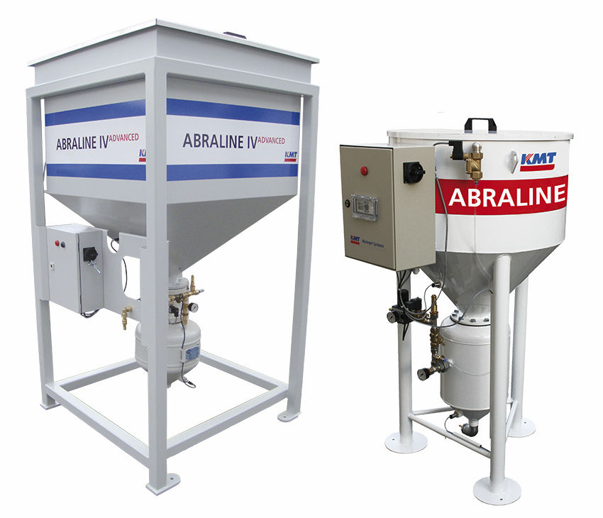 Abrasive for water-jet cutting machines feeding system