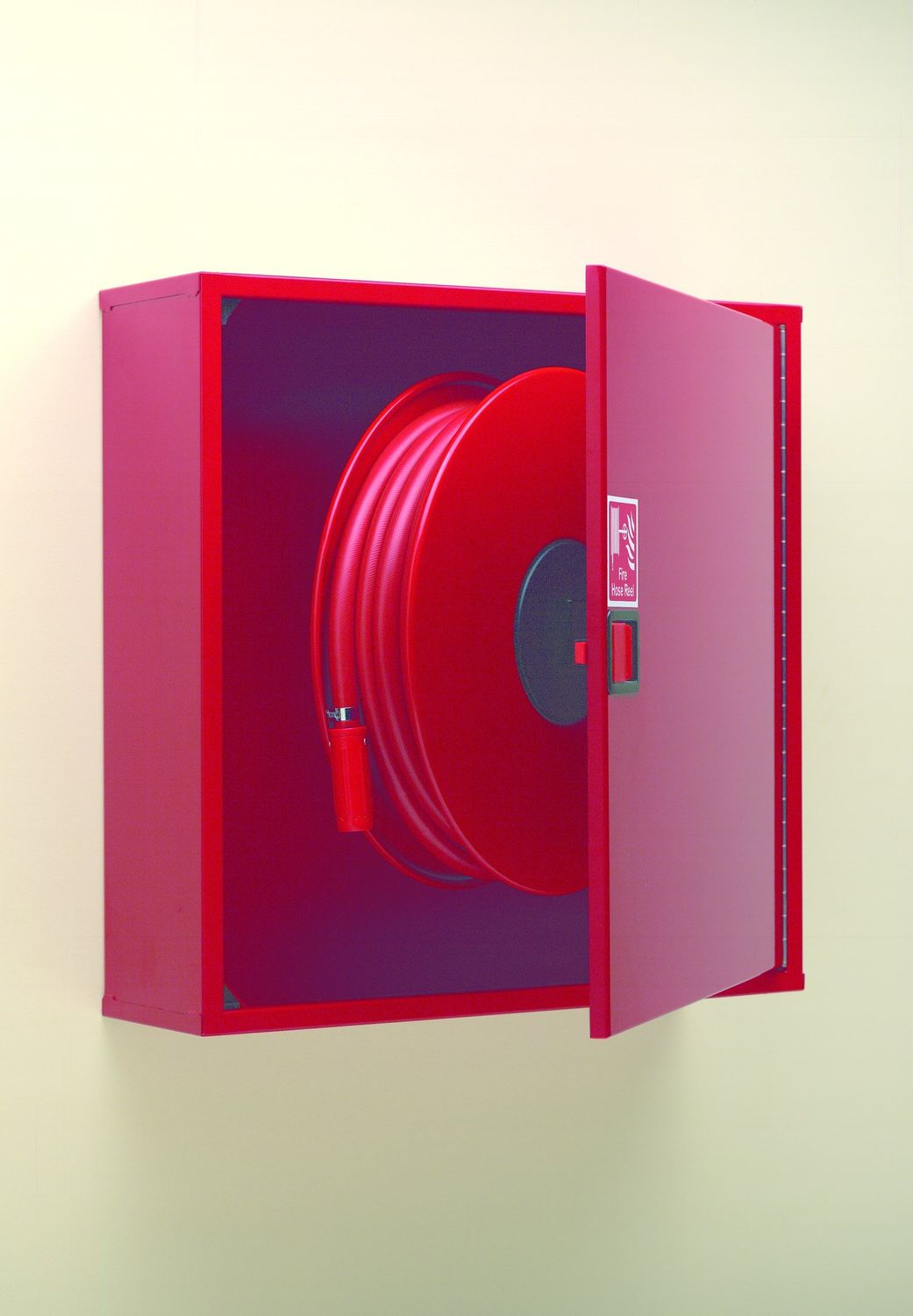 protective cabinet wallmount for fire hose reel