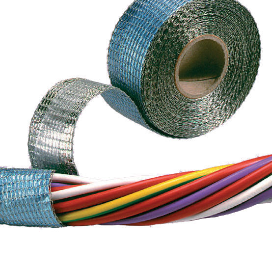 aluminum adhesive tape / industrial / wire harness / for emc shielding -  zip-mesh