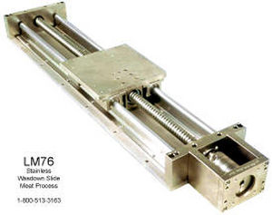 Slide linear guide / stainless steel / pneumatic - LM76