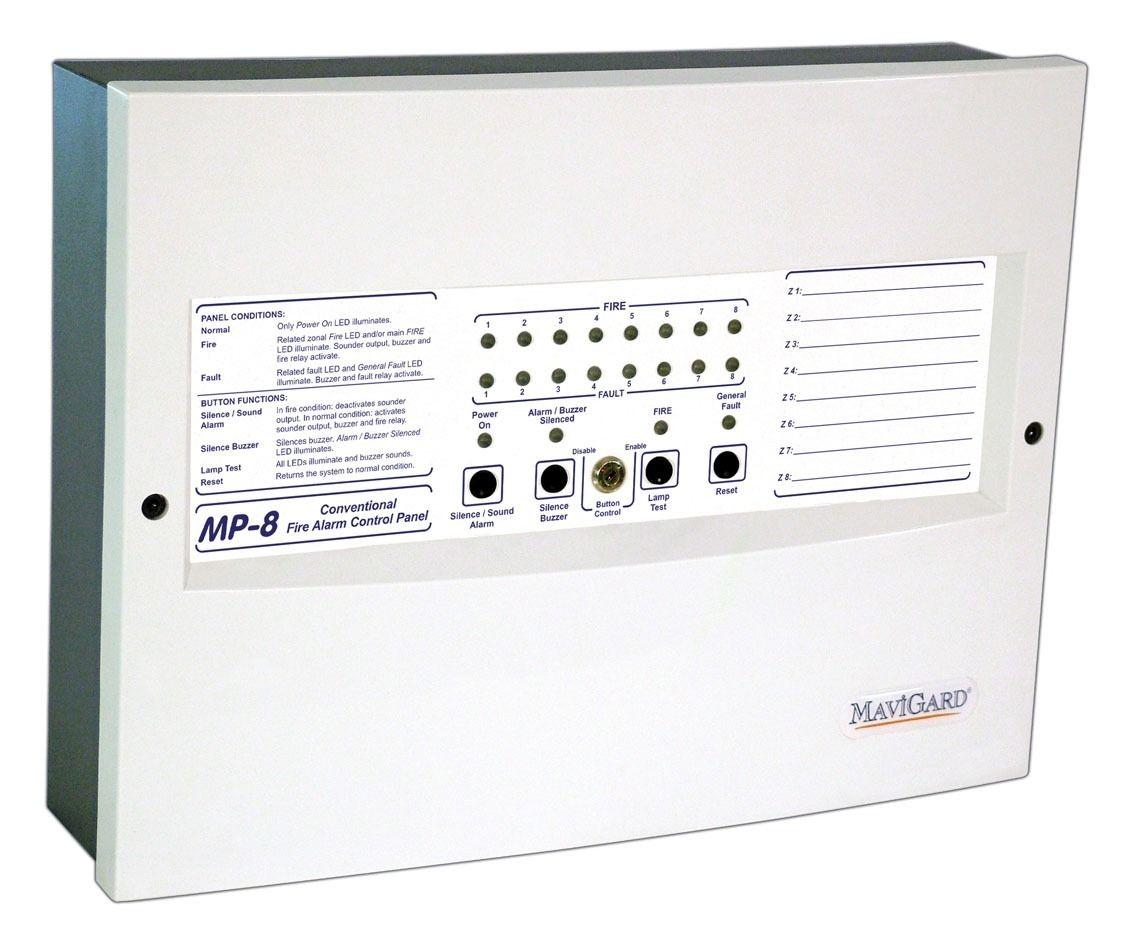 Fire alarm control panel / conventional area - MP-8 series - MAVILI ...