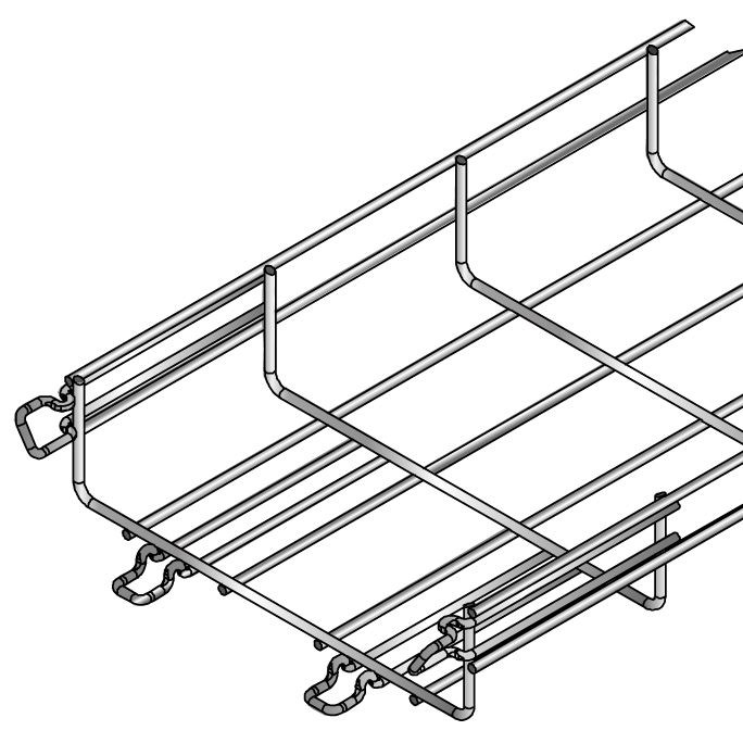 Wire basket cable tray - CITO MTC - NIEDAX FRANCE