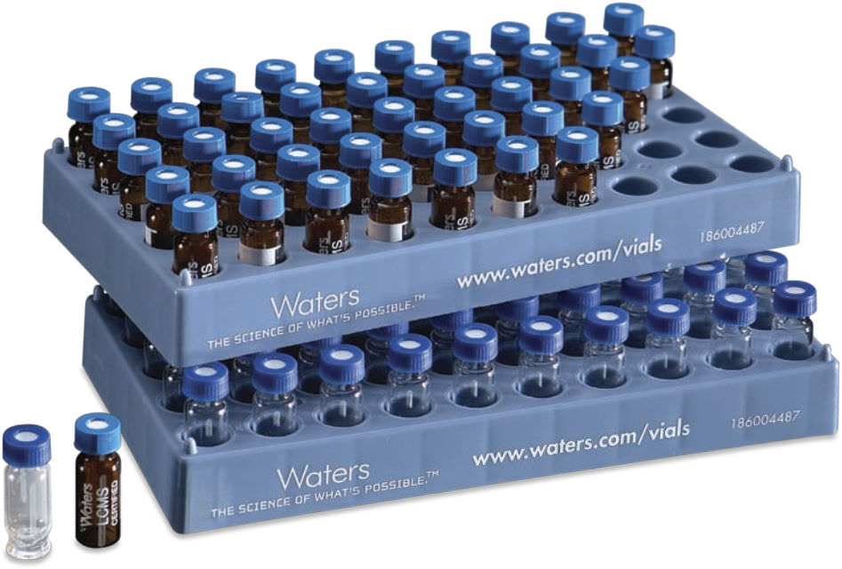 Cylindrical vial / glass / sample preparation - Waters