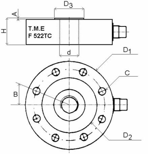 Compression Load Cell Tensioncompression Tension Pancake Type