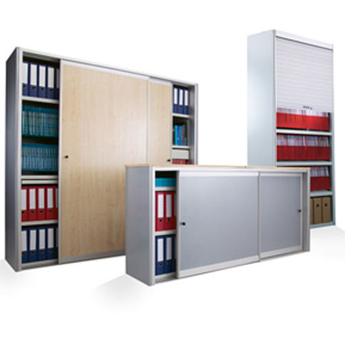 Bruynzeel Storage Systems.Office Cabinet Floor Mounted Shelf Sliding Door Bruynzeel