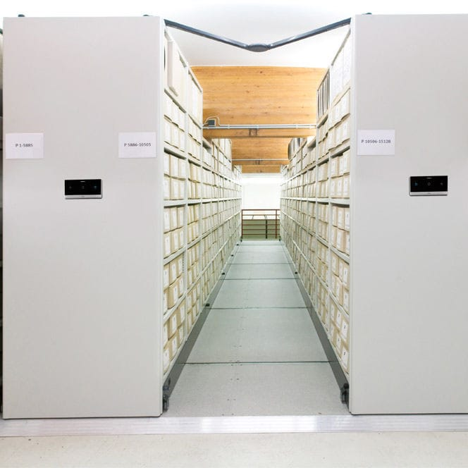 Bruynzeel Storage Systems.Office Shelving Archival Mobile With Shelves Compactus