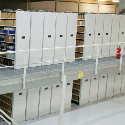Bruynzeel Storage Systems.High Rise Shelving Office Archival Mobile Compactus Series
