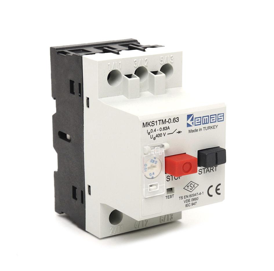 Short Circuit Breaker Modular Molded Case Motor Wiring Protection Mks1 Series