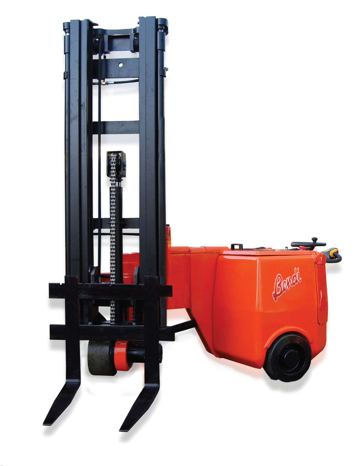 Electric Forklift Walk Behind For Very Narrow Aisles Handling