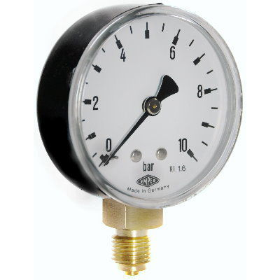 gas manometer. pressure gauge with integrated led lighting / analog bourdon tube for gas 63 manometer