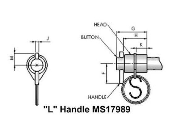 double-acting quick-release pin - MS 17988, MS 17990 series