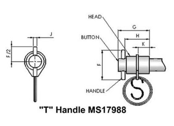 double-acting quick-release pin. MS 17988, MS 17990 series Specialty &  Fasteners Components