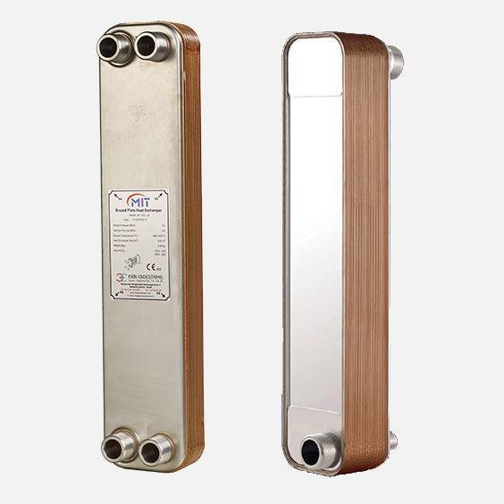 Brazed plate heat exchanger / liquid/liquid / gas/liquid / copper ...