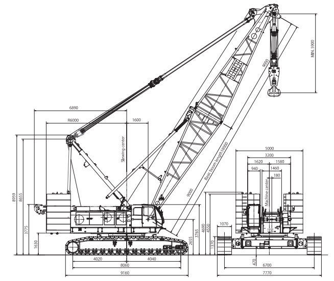 Crawler Crane Diagram