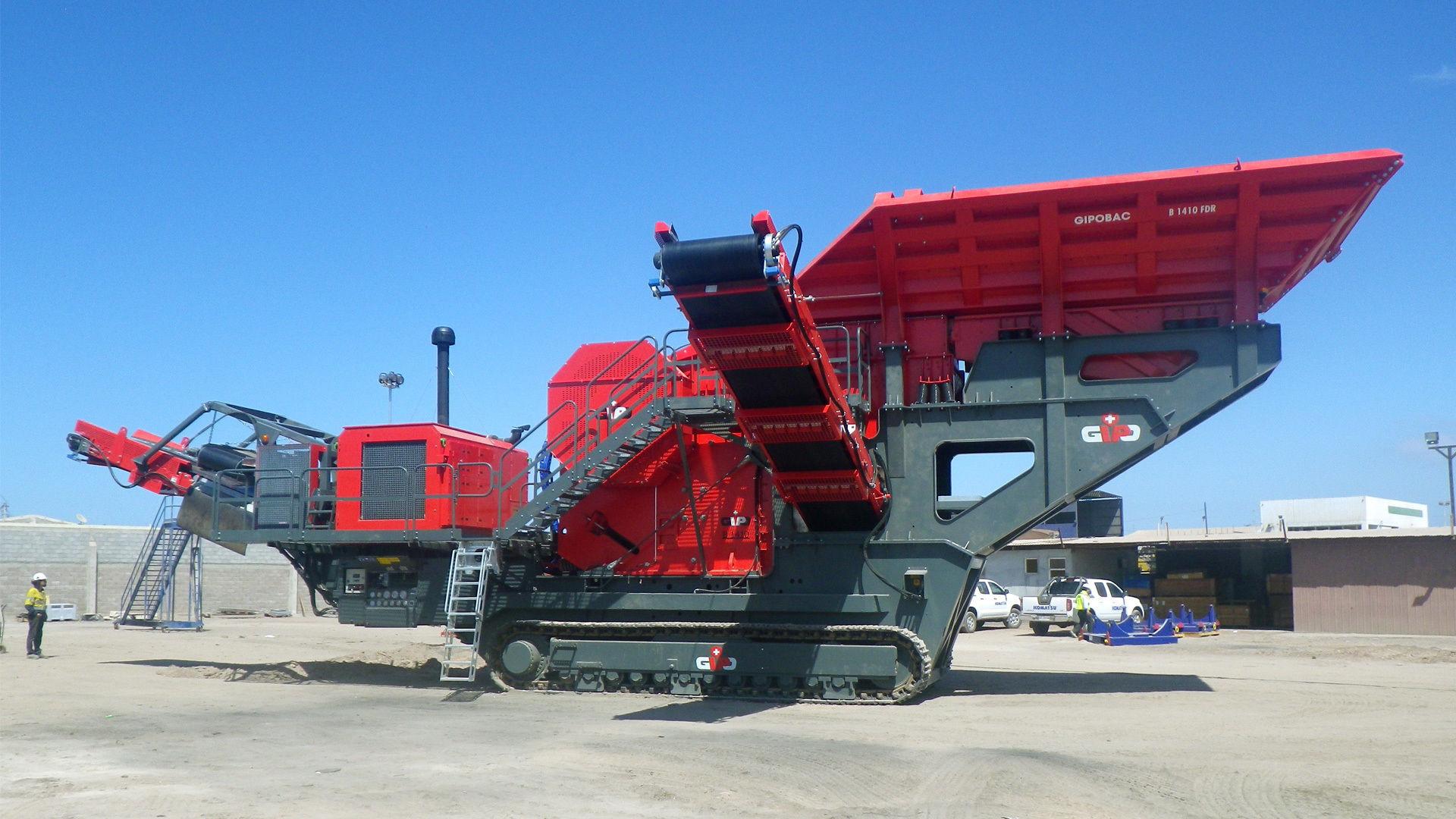 jaw crusher / mobile / crawler / diesel engine - GIPOBAC B 1410 FDR