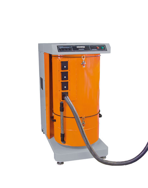 Floor-standing centralized fume extraction system / welding / with