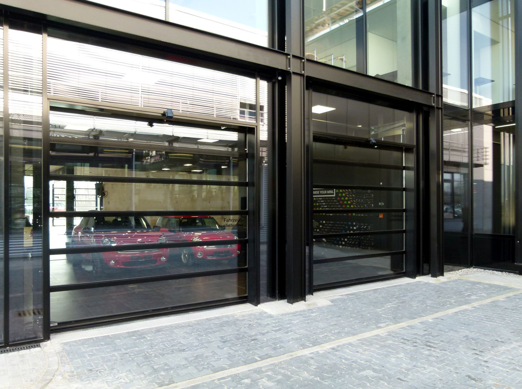 Fold-up door / glass / aluminum / exterior - SPACELITE HT 40 ...