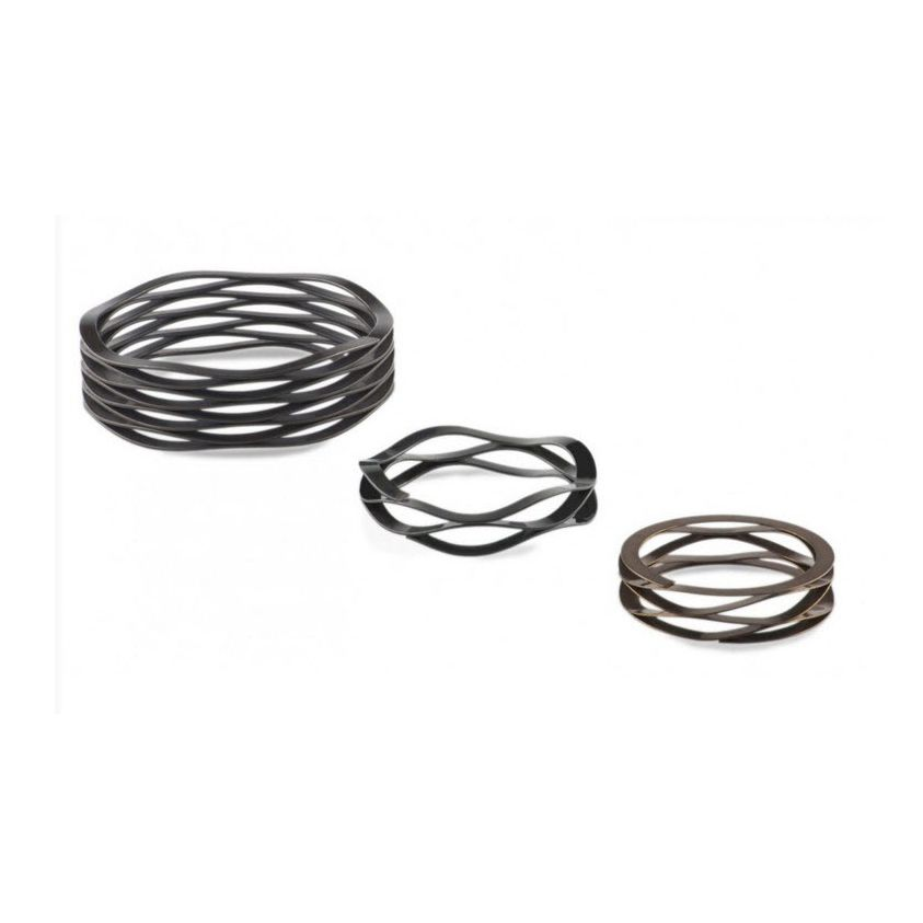 Compression spring / wave / flat wire / stainless steel - Ondufil ...