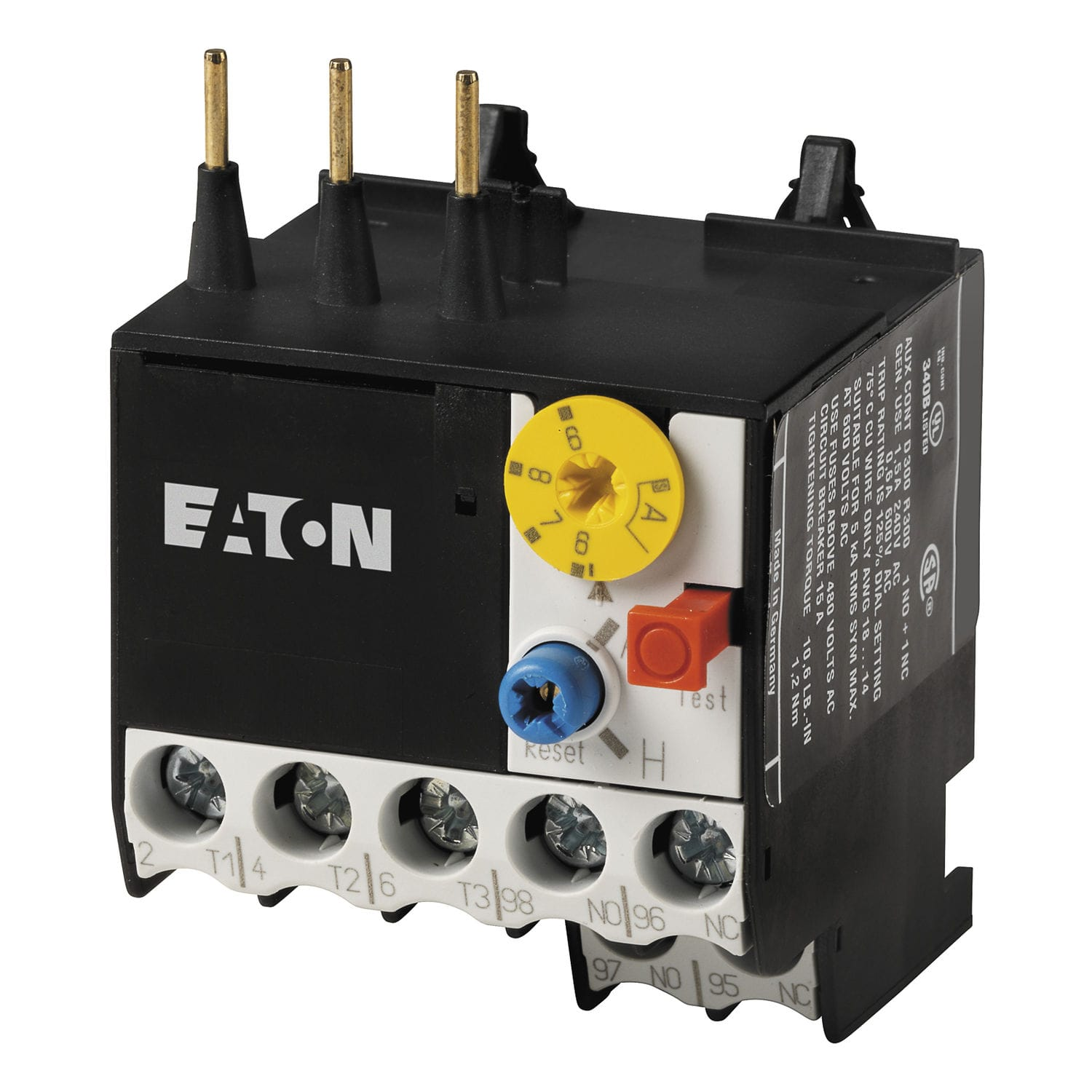 Thermal Protection Relay Automatic Reset Three Phase Contactor Eaton Current Mount Z