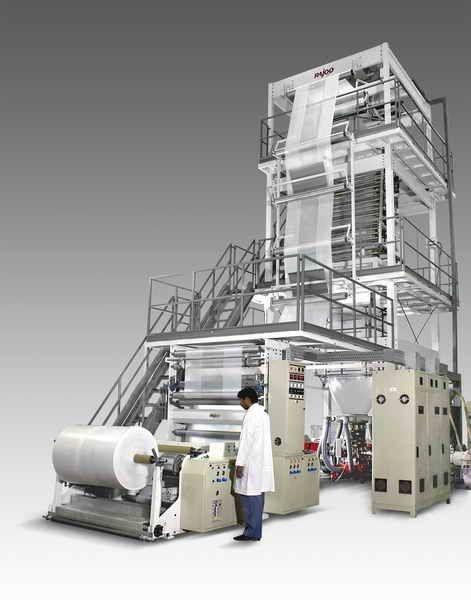 Blown film coextrusion line / multilayer 120 - 1200 kg/h | Multifoil Rajoo  Engineers Ltd