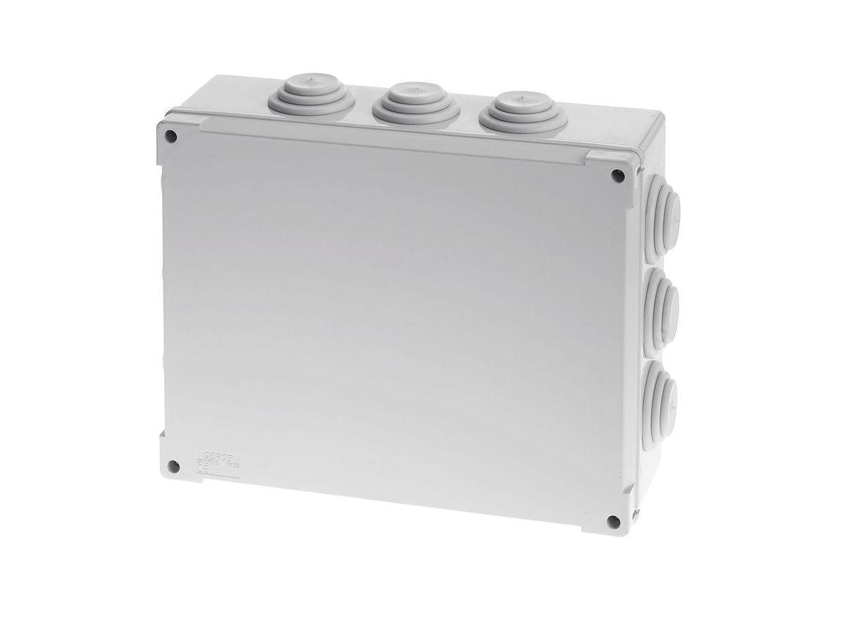 Wall mounted junction box waterproof plastic with elastic wall mounted junction box waterproof plastic with elastic membranes 310 x 240 x 100 mm ip 54 mm gr17066 sciox Choice Image