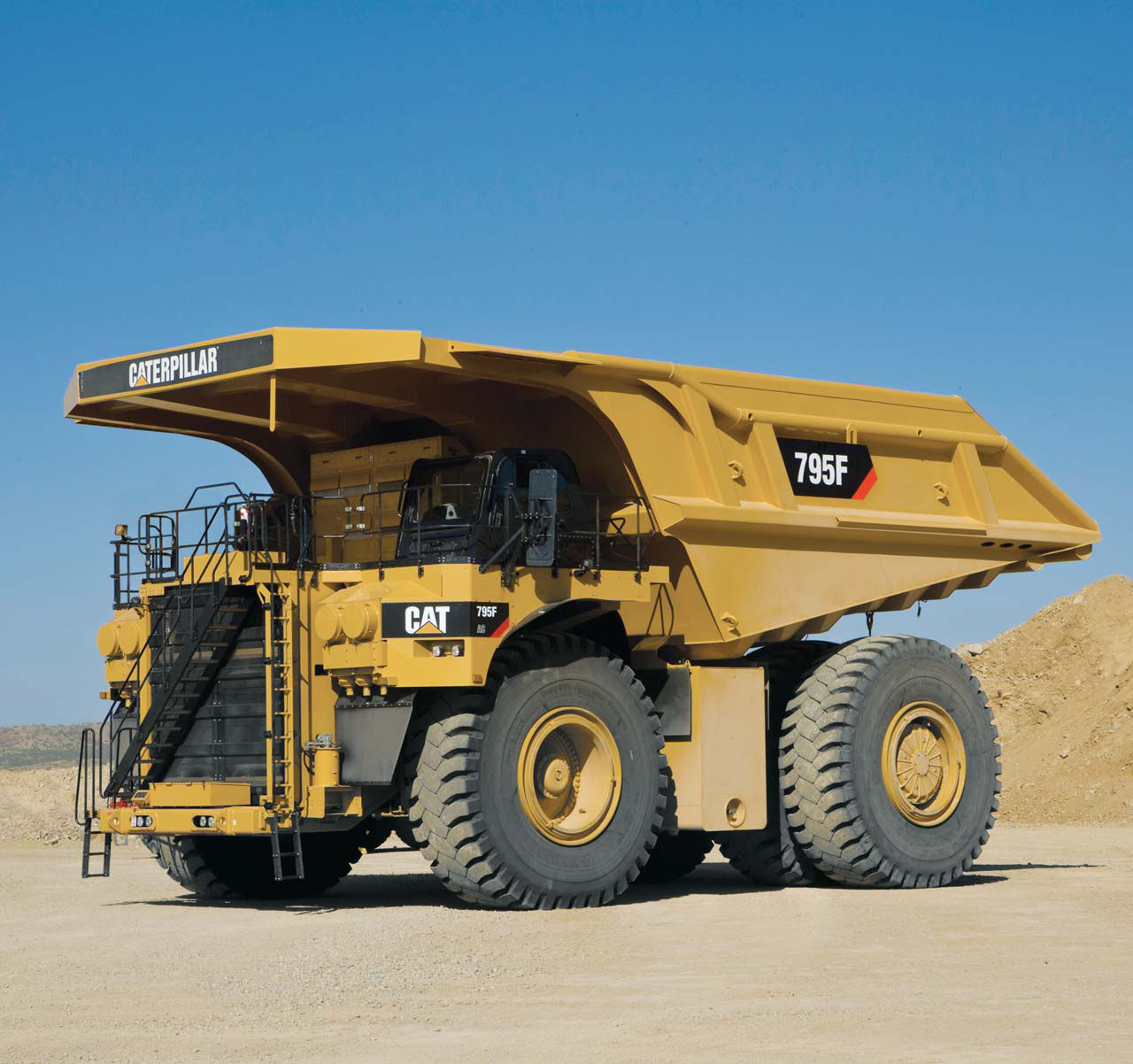 Rigid dump truck electric mining and quarrying 795f ac
