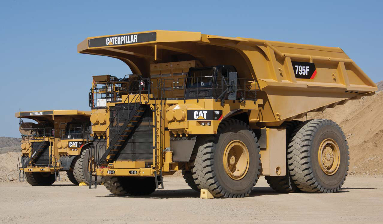 Rigid dump truck electric mining and quarrying 795f ac caterpillar global mining