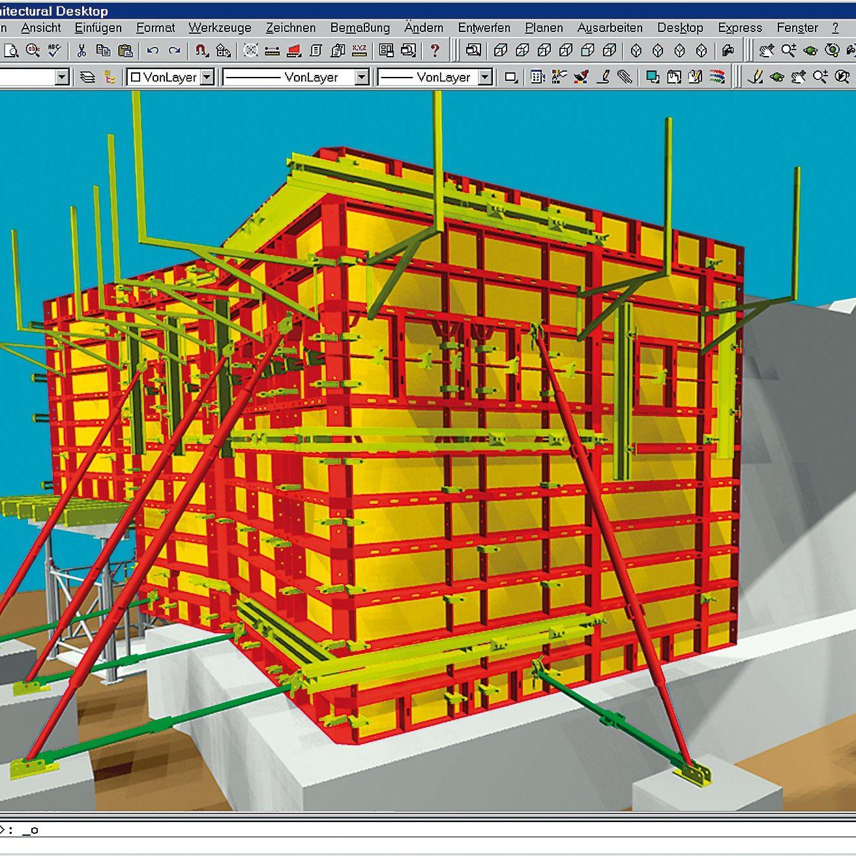Formwork Design Software Under Autocad 2d 3d Plan Pro