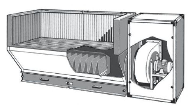 welding downdraft table - baf - aerservice