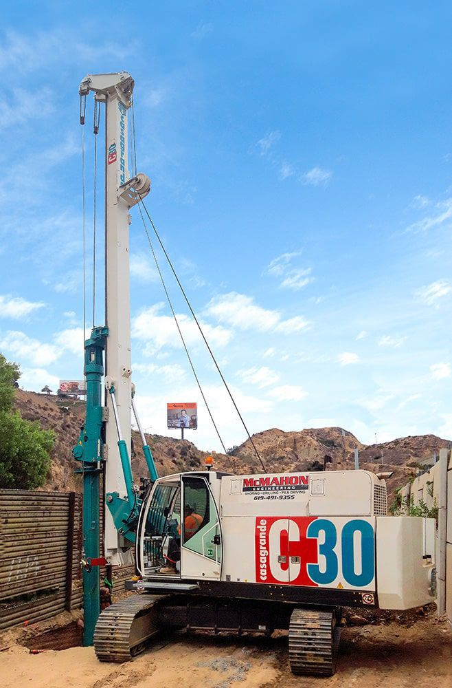 Piling drilling rig / crawler / rotary / hydraulic - C30