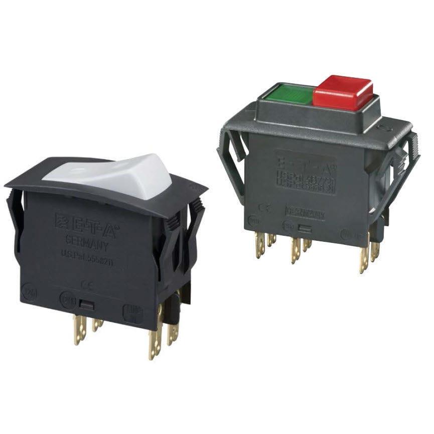 Thermal circuit breaker / single-pole / modular / rocker switch type ...