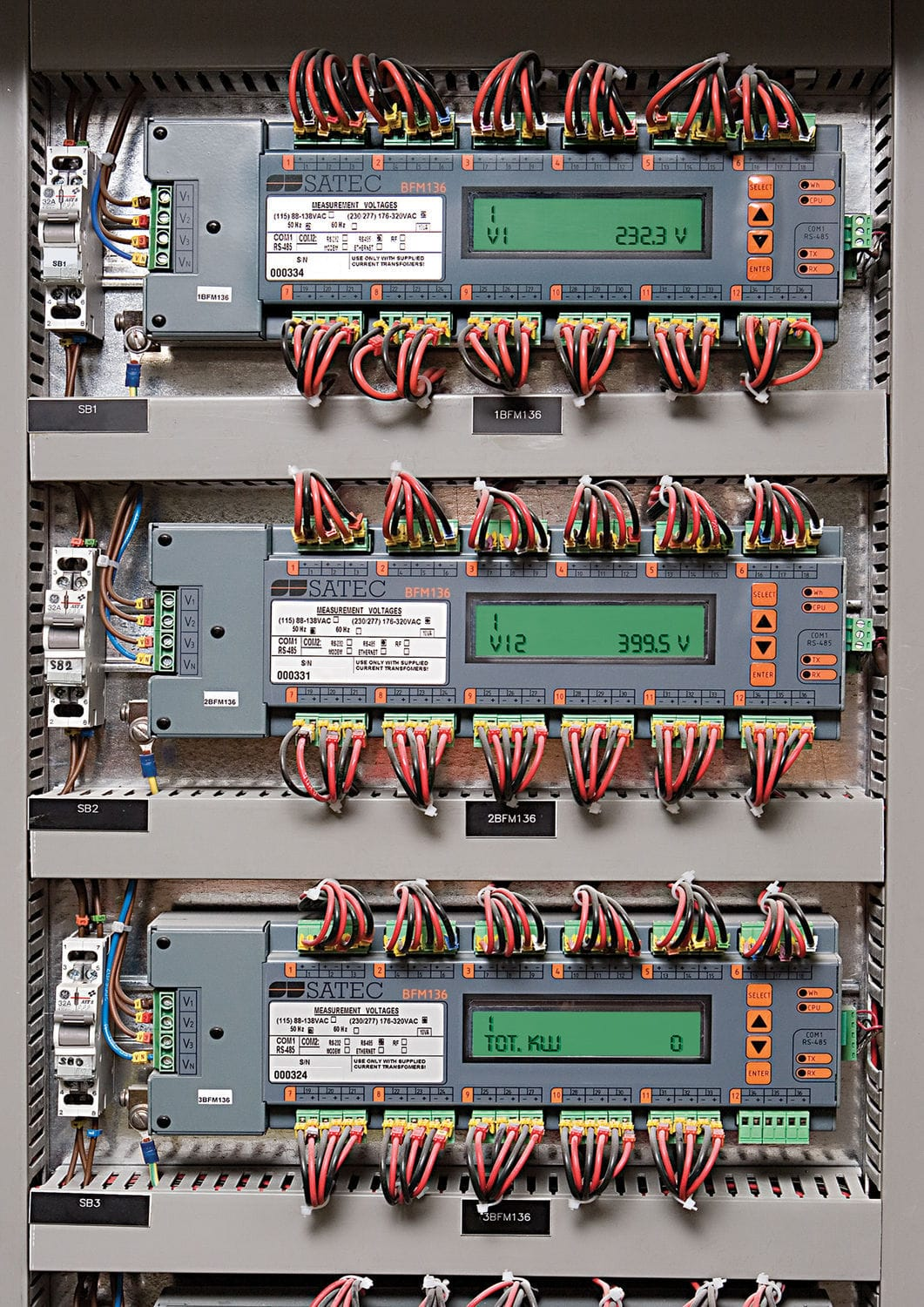 Single Phase Electric Energy Meter Three Din Rail Panel Electrical Wiring