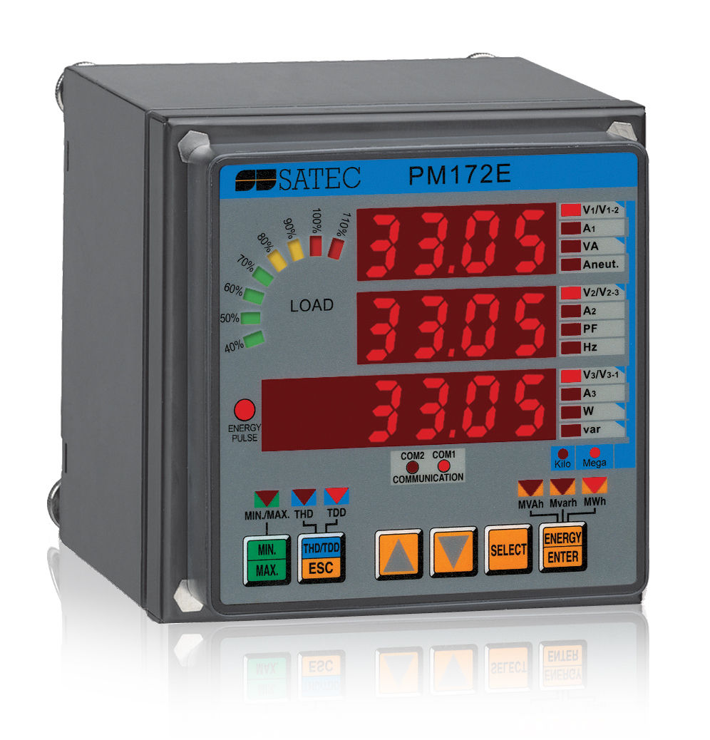 ffb1be4944d561 three-phase electric energy meter / panel-mount / RS-485 / digital - PM172E