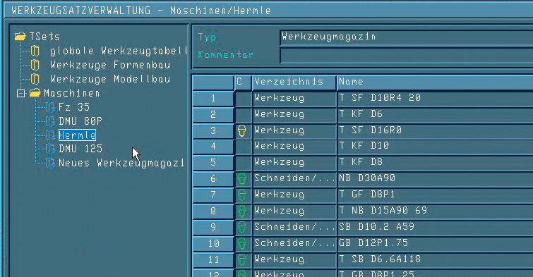 Programming software - PU T NC - TEBIS
