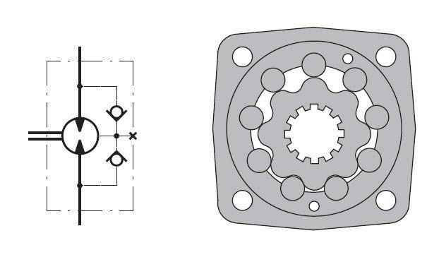 Gerotor hydraulic motor - MT, MLHT series - M+S Hydraulic PLC